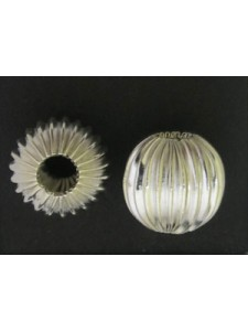 Corrugated Bead 14mm (5mm H) Silver Plat