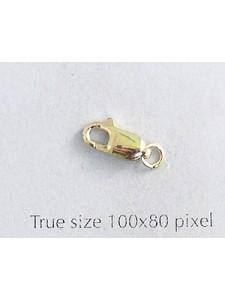 Lobster Clasp 14kGoldFill 4x10mm w/ring