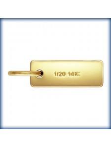 Quality Tag 3x8mm w/ring 14K Gold Filled