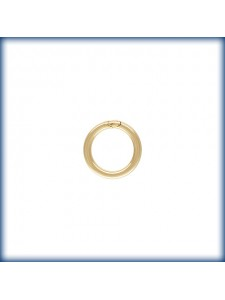 Jump Ring 0.89x6mm Soldered 14KGF