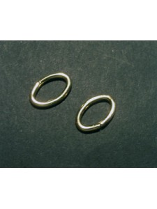 Jump Ring Oval 1.27x6.4x9.6mm 14KGF