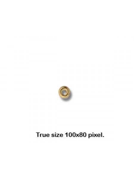 3mm Roundel H:1mm  14K gold filled