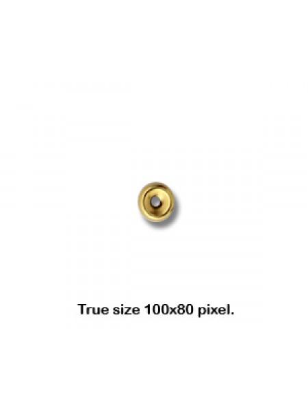 4mm Roundel H:1mm  14K gold filled