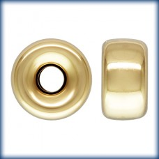 6mm Roundel H:1.5mm 14k Gold Filled