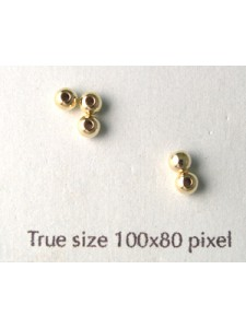3mm Bead 1mm hole 14K Gold Filled