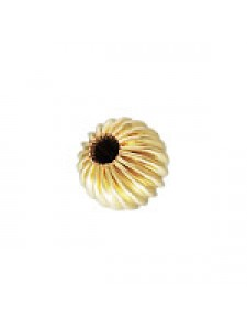 Corrugated Bead 4mm 14K gold filled