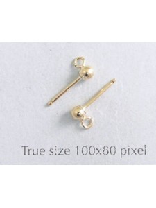 3mm Ball Earrings Gold Filled - PAIRS