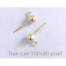 4mm Ball Earrings Gold Filled - PAIRS