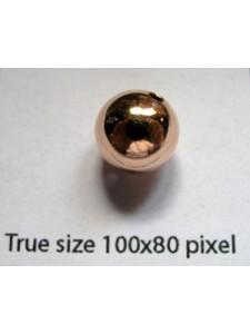 10mm Bead H:2mm 14KGF Rose Gold