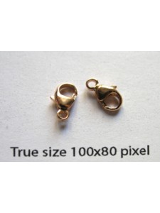 Oval Clasp 4.8x9mm 14KGF Rose Gold