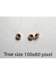 Roundel 3mm H:1mm 14KGF Rose Gold