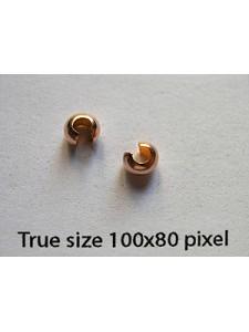 Crimp Cover 4mm 14KGF Rose Gold Filled