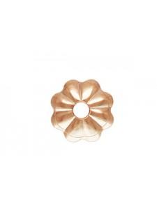 Flower Bead Cap 4mm 14K Rose Gold Filled