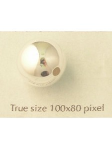 St. Silver Bead 14mm 2.5mm hole