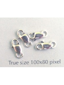 St. Silver Lobster Clasp 8x3mm w/ring