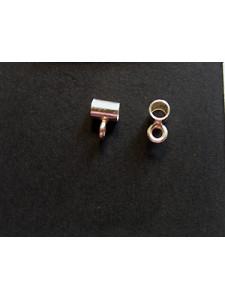 St.Silver 3x4mm Tube with closed ring