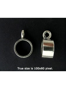 St.Silver Pendant Slide 9.5x5mm 7.5mm ID