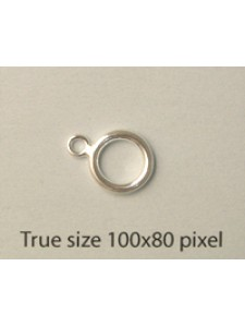 St.Silver Toggle Clasp Ring 1.5x9mm