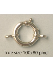 St.Silver Spring Ring 16x3mm w/figure8