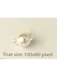 St.Silver Magnetic Bead Clasp 8mm