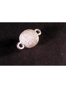 St.Silver Magnetic Bead clasp 8mm Stardu