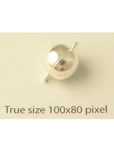 St.Silver Magnetic Bead Clasp 10mm