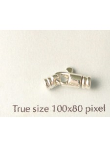St. Silver Swivel Clasp Round Cast 2.5mm
