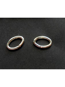 St.Silver Jumpring Oval 1.27x6.4x9.6mm