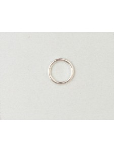 St.Silver Jump Ring 8.0 x 1.0mm SOLDERED