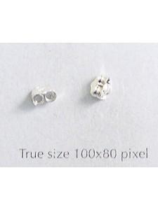 St.Silver Earring Backs Medium- per PAIR