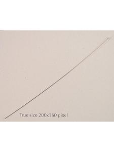 St. Silver Head Pin 76mm x 0.5mm