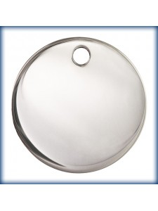 St.Silver Round Disc 17mm 1mm thick