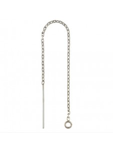 St.Silver Threader DC Cable Chain w/ring