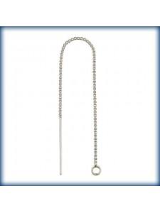 St.Silver Threader Box Chain w/ring PAIR