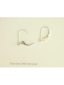 Plain Leverback w/ring Earrings - PAIR