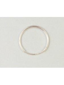 St.Silver Earring Hoop 16x1.25mm - EACH
