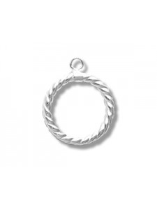 St.Silver Twist Toggle Ring only 15x2mm