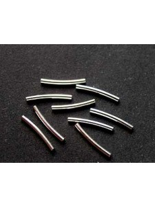 St.Silver Curved Tube 1x10mm ID0.7mm