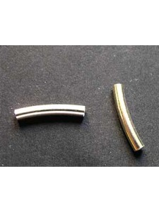St.Silver Curved Tube 2.5x15mm ID2.2mm