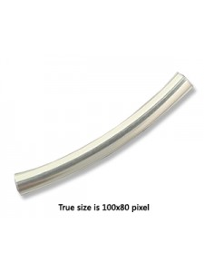 St.Silver 35m Curved Tube 4mmOD 3.5mmID