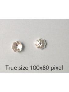 St. Silver Flower Bead Cap 6mm