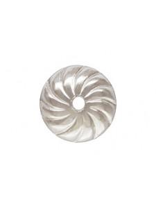 St.Silver Swirl Bead Cap 6mm AT