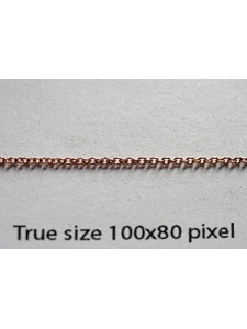 Cable Chain 1.2mm 14KGF Rose Gold - gram