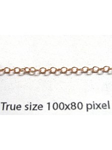 Cable Chain 1.7mm 14KGF Rose Gold - gram