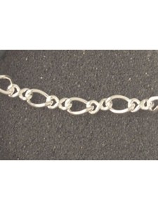 St. Silver Chain Figure 8 Cable - per gr