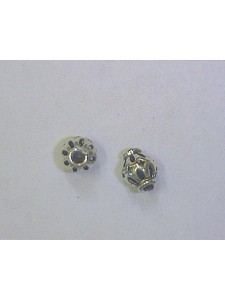 St. Silver Floral Bead 7x7.5mm ~0.5gram