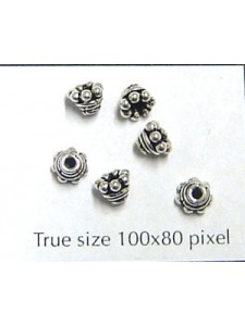 St. Silver Side Spacer Bead Cone