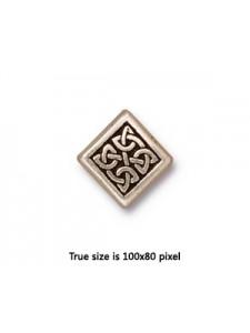 BEAD  MED CELTIC DIAMOND  SA 10x10x3.5mm