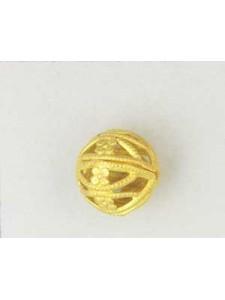 Filigree Bead 12mm Raw Brass