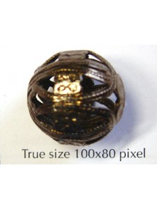 Filigree Bead 18mm Black Nickel